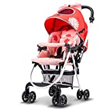 Baby Ultra-Light and Convenient Trolley, Reclining and Child-Friendly Folding cart Easy to Clean Click Connect Stroller Verb Travel System Stroller