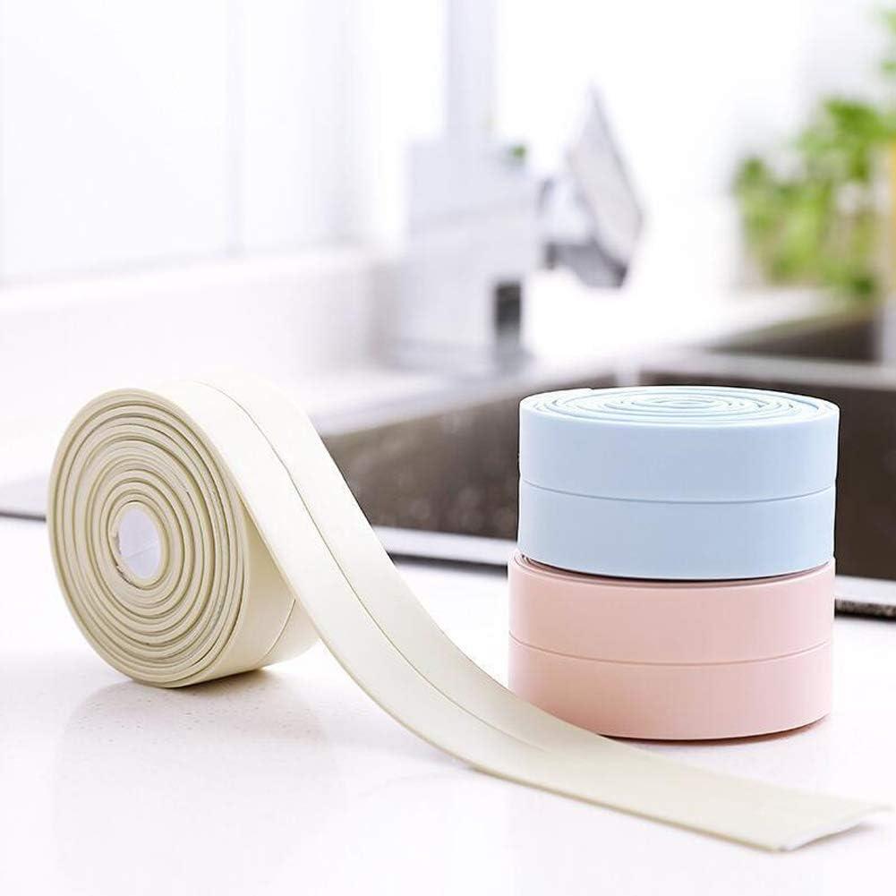 Wei/ß f/ür Badezimmer Dusche K/üche Fenster und T/üren Selbstklebende Dichtband Flexibles Wasserdichtes Dichtungsband