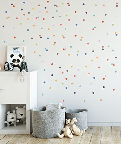 Baby Nursery Wall Decals, Rainbow Polka Dots, Baby Nursery Wall Decal, Kids  Wall