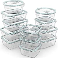 Razab 24 Piece Glass Food Storage Containers w/Airtight Lids - Microwave/Oven/Freezer & Dishwasher Safe - Steam Release...