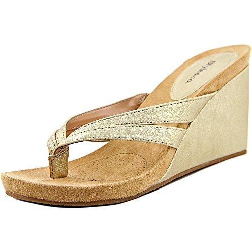Style & Co. Cassiee - Sandalias de vestir de Material Sintético para mujer plateado plata dorado claro
