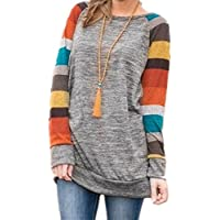 honie girl Women's Funny Shirts with Raglan Striped Long Sleeve Tunic Top for Teen Grils