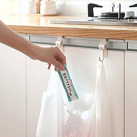 BuyYourWish - Ganchos para puerta de fregadero de cocina, 2 puertas traseras, varios ganchos giratorios, una pieza: Amazon.es: Hogar
