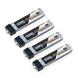 Crazepony 4pcs 220mAh 50C 1S Blade Inductrix Lipo Battery 3.7V