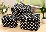 HOYOFO 3Pcs Makeup Bags for Women Polka Dot