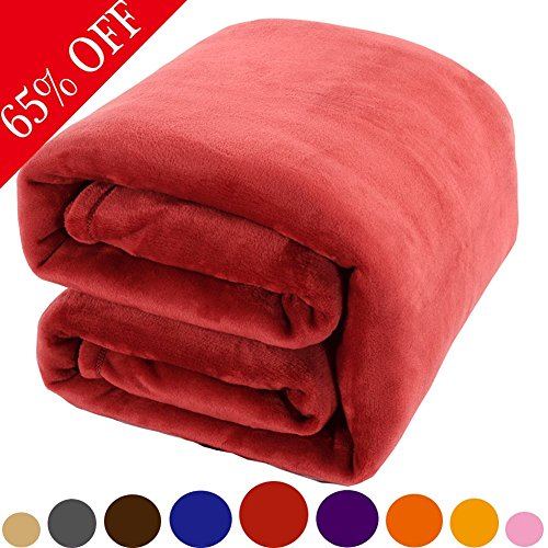 Shilucheng Luxury Fleece Blanket Super Soft Warm Fuzzy Lightweight Queen Couch Bed Blankets- - Fuzzy Light
