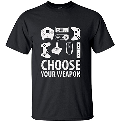 Unisex-Choose-your-weapon-gamer-shirt-video-game-shirts-funny-nerdy-gaming-tshirts