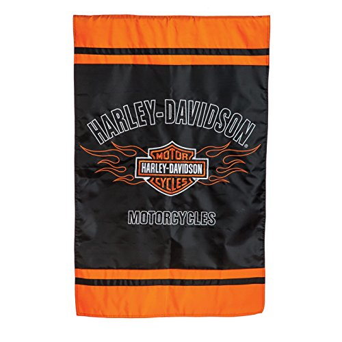 Harley-Davidson Bar and Shield Flames House Flag -