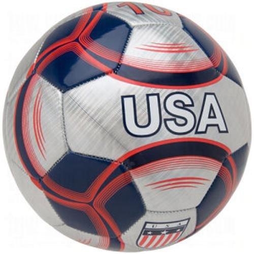 (Vizari USA Soccer Ball, Silver/Navy,)