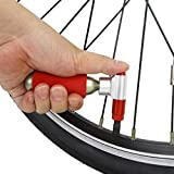 FidgetFidget Pump Cycle Tyre Inflator Red Mini CO2 Bicycle Bike Threaded Cartridge Tire