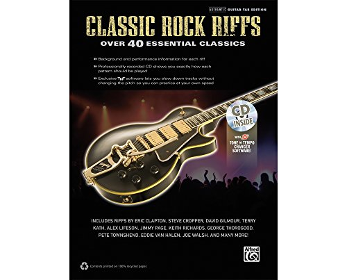 Alfred Classic Rock Riffs Guitar Book & (Lane Bone China)