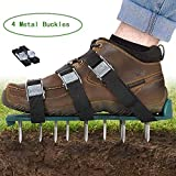 Oceanpax Lawn Aerator Spike Shoes 26 Spikes and 4 Adjustable Straps Ready for aerating Your Yard, Root & Grass