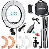 "Photo : Neewer RL-12 LED Ring Light 14"" outer/12 on Center with Light Stand, Soft Tube, Filter, Carrying Bag for Makeup, YouTube, Camera/Phone Video Shooting"