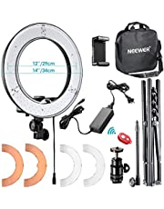 Neewer 48cm Blanco Anillo de Luz LED con Luz Soporte Kit de Iluminación Regulable 50W 32000-5600K para Maquillaje, Cámara/Smartphone Youtube Video Disparo