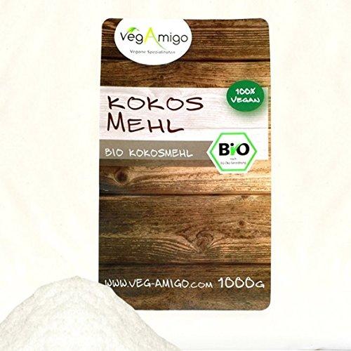 Bio Kokosmehl 1000g - Glutenfrei, Nährstoffreich - Vegetarisch und Vegan - vielseitiges Lebensmittel in geprüfter Bio-Qualität
