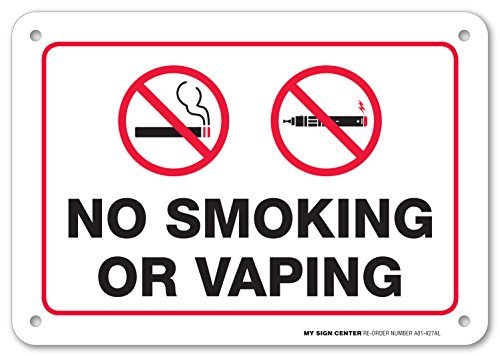 Smoking Vaping Sign Protected Weatherproof