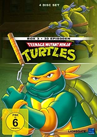Teenage Mutant Ninja Turtles - Box 3 4 DVDs Alemania: Amazon ...