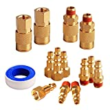 "FYPower 15 Pieces 1/4"" NPT Air Coupler and Plug"