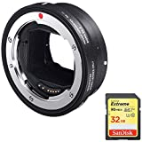 Sigma Mount Converter MC-11 for Canon Lenses - Sony E Mount (89E965) with Sandisk 32GB Extreme SD Memory UHS-I Card