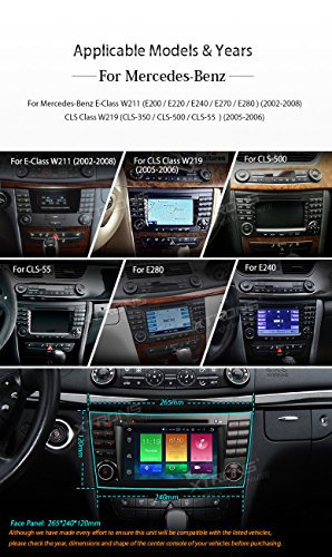XTRONS Android 6.0 Octa-Core 64Bit 7 Inch Capacitive Touch Screen Car Stereo Radio DVD Player GPS CANbus Screen Mirroring Function OBD2 Tire Pressure Monitoring for Mercedes-Benz E-Class W211 by XTRONS (Image #2)