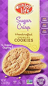 Enjoy Life Handcrafted Crunchy Cookie, Sugar Crisp, 6.3 Ounce (Pack of 6)