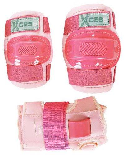 Schutzpolster für Knie, Ellenbogen und Handgelenke, 3er Set für Kinder, rosa