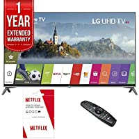 LG 60UJ7700 - 60-inch Super UHD 4K HDR Smart LED TV (2017 Model) w/ 6 Months of Netflix + 1 Year Extended Warranty