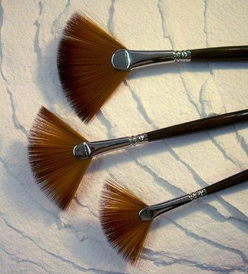 Escoda Acrylic & Watercolor Brushes- Fan #2