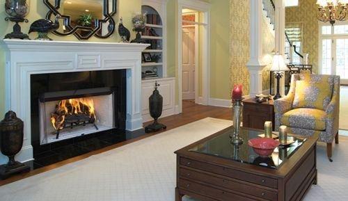 Superior 42' Louvered Wood Burning Fireplace w/White Stacked Panels