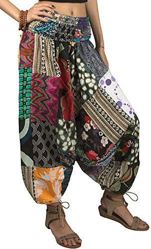 Tribe Azure 100% Cotton Harem Pants Colorful Summer Hippie