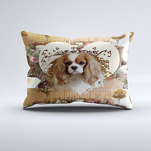 Zippered Pillow Covers Pillowcases 12x20 Inch Cavalier King Charles Spaniel Pillow Cases Cushion Cover for Home Sofa Bedding