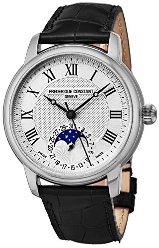 Frederique Constant Moonphase Automatic Classics Stainless Steel Mens Watch - Silver Face Black Leather Band Swiss Automatic Moon Phase Watch For Men FC-715MC4H6 - 51IHftdt98L - Frederique Constant Moonphase Automatic Classics Stainless Steel Mens Watch – Silver Face Black Leather Band Swiss Automatic Moon Phase Watch For Men FC-715MC4H6