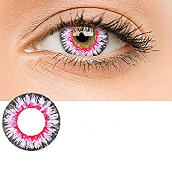 6c253d7485a8 Women Multi-Color Contact Lenses Cosplay Eyes Cute Colored Charm and  Attractive Cosmetic Makeup...