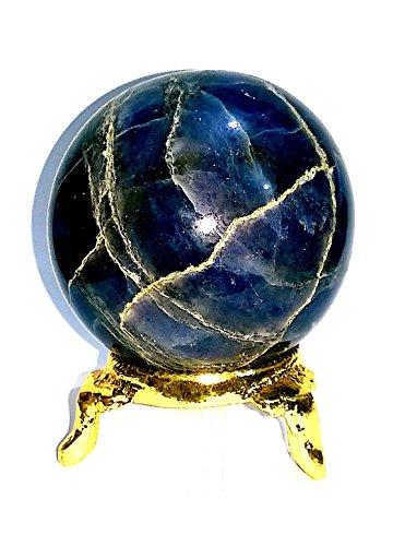 Healing Crystals India40-50mm Natural Gemstone Sphere Ball Aura Balancing Metaphysical Ball (40-5-MM, Iolite)