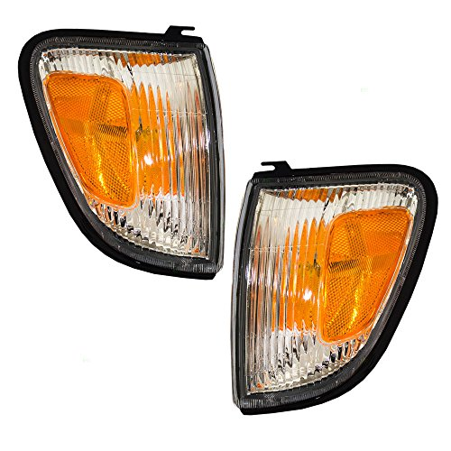 Driver and Passenger Park Signal Side Marker Lights Lamps Replacement for Toyota Pickup Truck 8161104060 8161004060 AutoAndArt