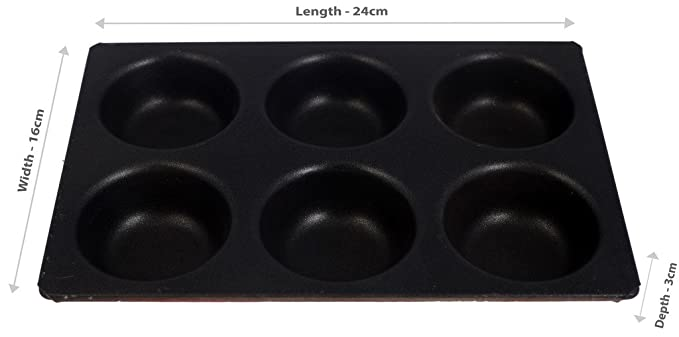 Rolex Non Stick Coated Muffin Tray Z51 6 Cavity