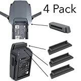 FSLabs DJI Mavic Pro / Platinum Drone and Battery terminal water-resistant dust cover plug Accessory (4 pack)