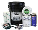 Liquid Rubber RV Roof Coating/Sealant 5 Gallon Kit - Includes RV Coating, 4'' x 50' Seam Tape, Primer, Cleaner, Brushes, Rollers, and Gloves | Brilliant White