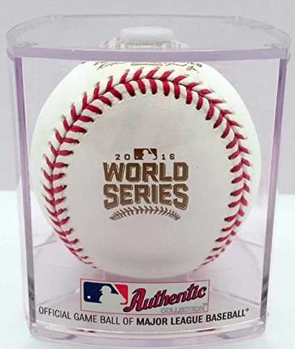 Indians Cleveland Baseball Display (Rawlings 2016 World Series Official MLB Game Baseball - CUBED)