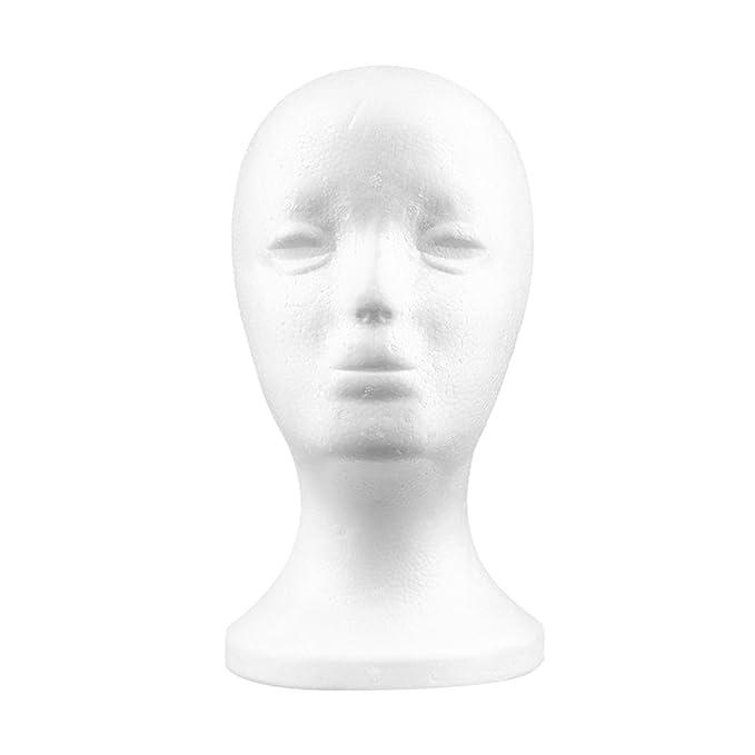 FEMALE POLSTYRENE WIG,HAT OR SHOP DISPLAY HEAD
