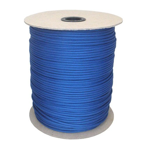 Paracord Planet Mil-Spec Commercial Grade 550lb Type III Nylon Paracord 1000 ft Spool Royal Blue, Outdoor Stuffs