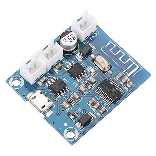 Yunnyp Bluetooth Power Amplifier Board,Mini Bluetooth Amplifier Board Module 4.2 Circuit Stereo Speaker Digital Module 5W + 5W ()