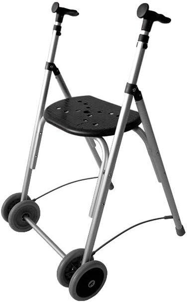 Forta fabricaciones - Andador de aluminio con asiento de FORTA Kamaleón - Negro, Sin ruedas traseras, Sin cesta