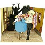 さんけい スタジオジブリmini ハウルの動く城 逃げるハウルとソフィー ノンスケール ペーパークラフト MP07-32