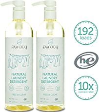 Puracy 10X Natural Liquid Laundry Detergent is the most concentrated laundry detergent on the market. Using plant-based enzymes and natural cleansers, this high efficiency formula requires just ¼ ounce per load, which reduces waste by more than 80%. ...