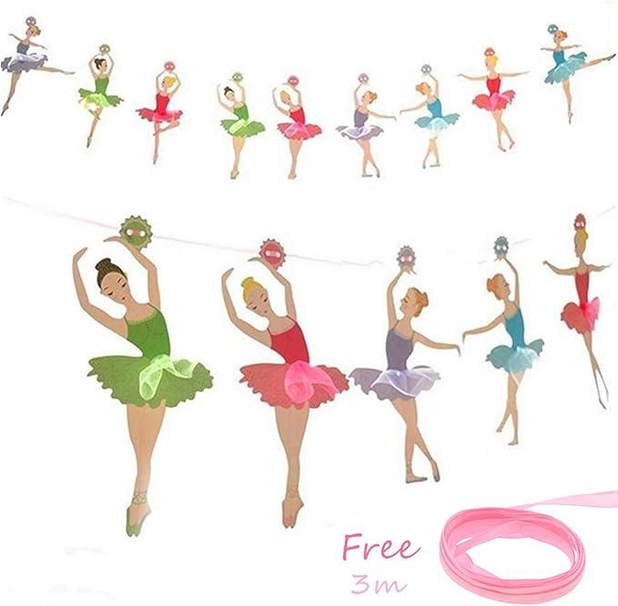 Tumao 3.5 m Banners Chicas Ballet, Guirnaldas del Papel Bandera ...