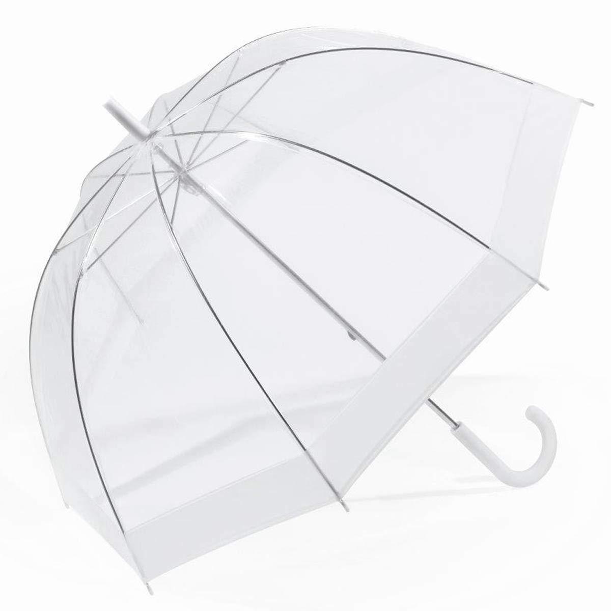 Parapluie Long Domeshape Blanc HAPPY RAIN HAPPY RAIN