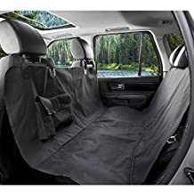 Bigear Pet Car Seat Cover, Waterproof Fabric Pet Seat Cover Protector Hammock Bed Mat Washable Dog Cat Safety Travel Blanket Cover for Car Truck SUV-Black