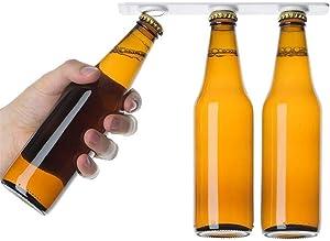 Unilive Magnetic Bottle Hanger Holder Beer Loft Fridge Refrigerator Magnet Jars Drink Storage Organizer,Holds 6 bottles- Pack of 2 (white)