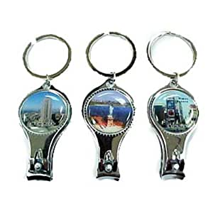 keychain with nail clipper bottle opener design new york 1 piece beauty. Black Bedroom Furniture Sets. Home Design Ideas